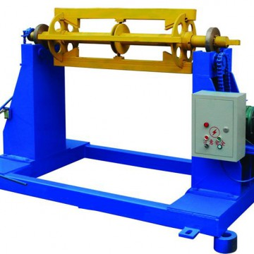 Motor decoiler for roll forming machine