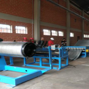 Zhongtuo 1250 mm slitting machine line steel strips cutting strips line