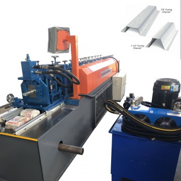Suspended ceiling furring channel rolling forming machine