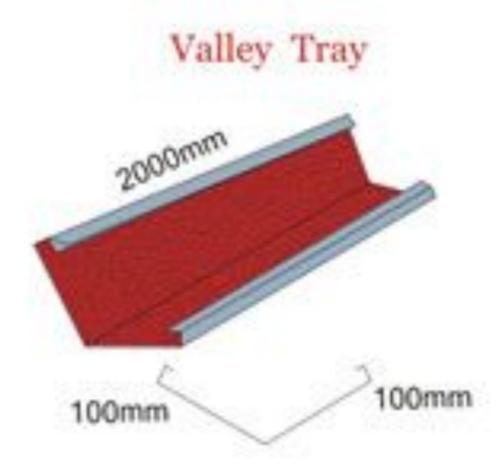 Valley tray machine