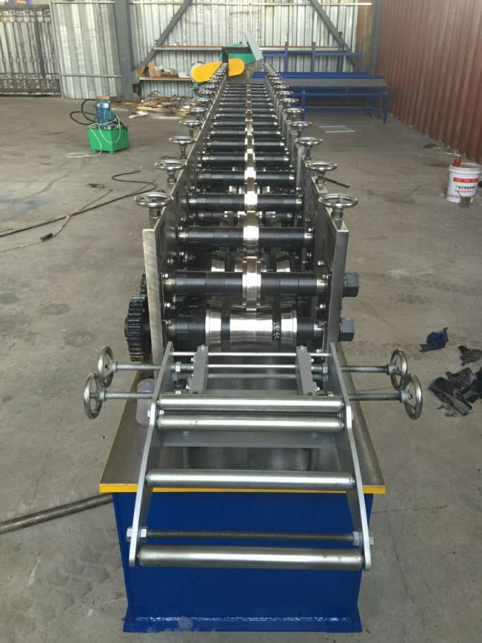 Door channel roll forming machine
