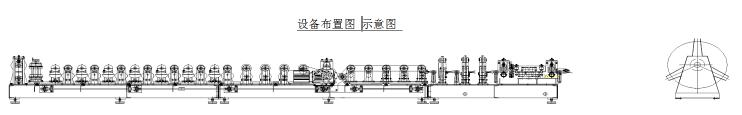 Roll Forming Machine for Two Waves Road and Highway