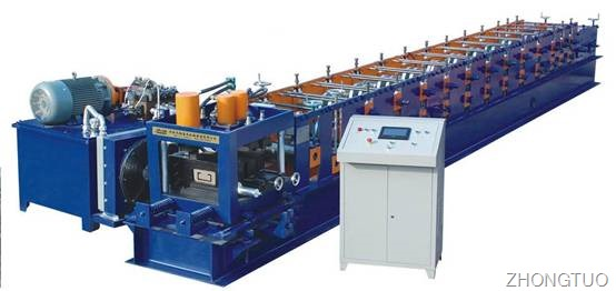 Economic strong C purline rolling forming machine