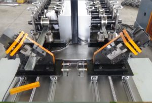 steel stud and track wall framing machine