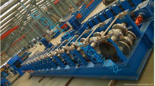highway guardrail making machine