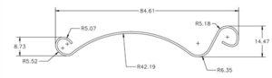 drawing of steel rolling shutter slat