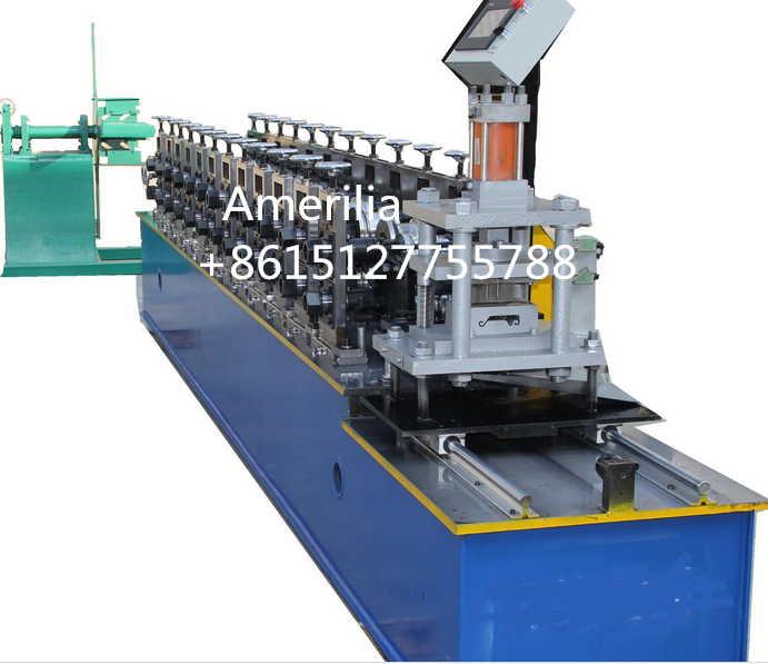Steel rolling shutter slat roll forming machine