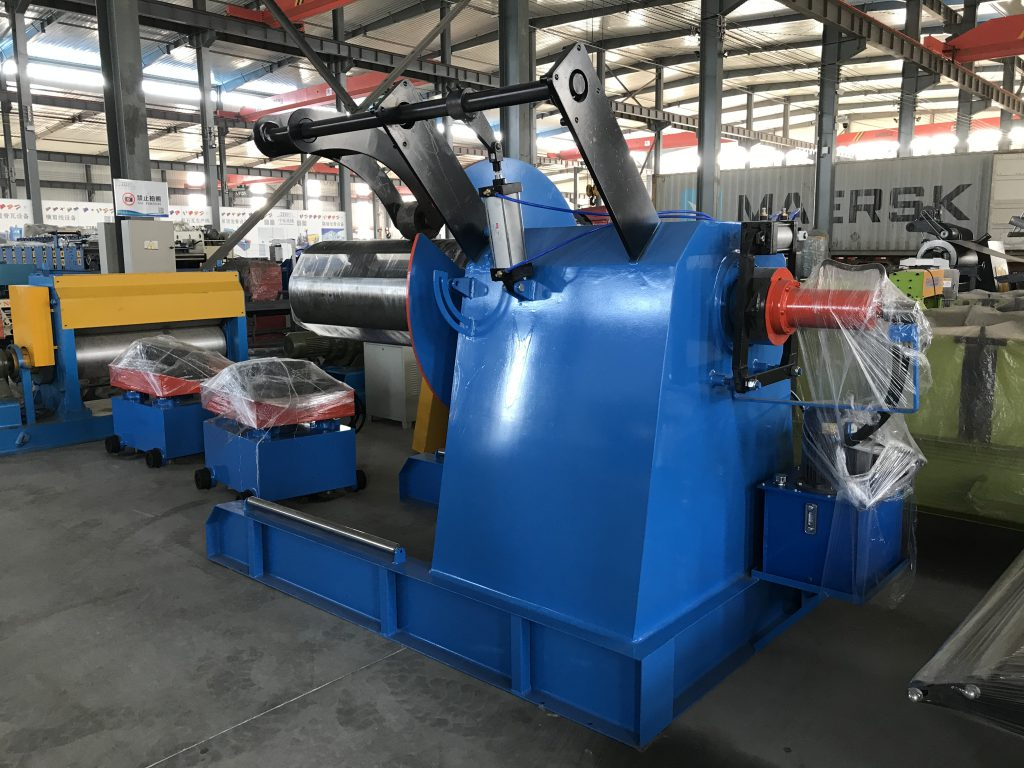 Hydraulic decoiler with loading car or without for roll forming machine