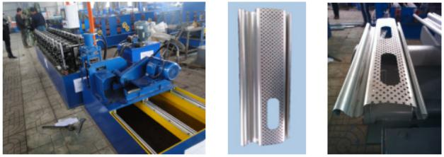 Auto-flying saw Perforated shutter door roll forming machine with holes