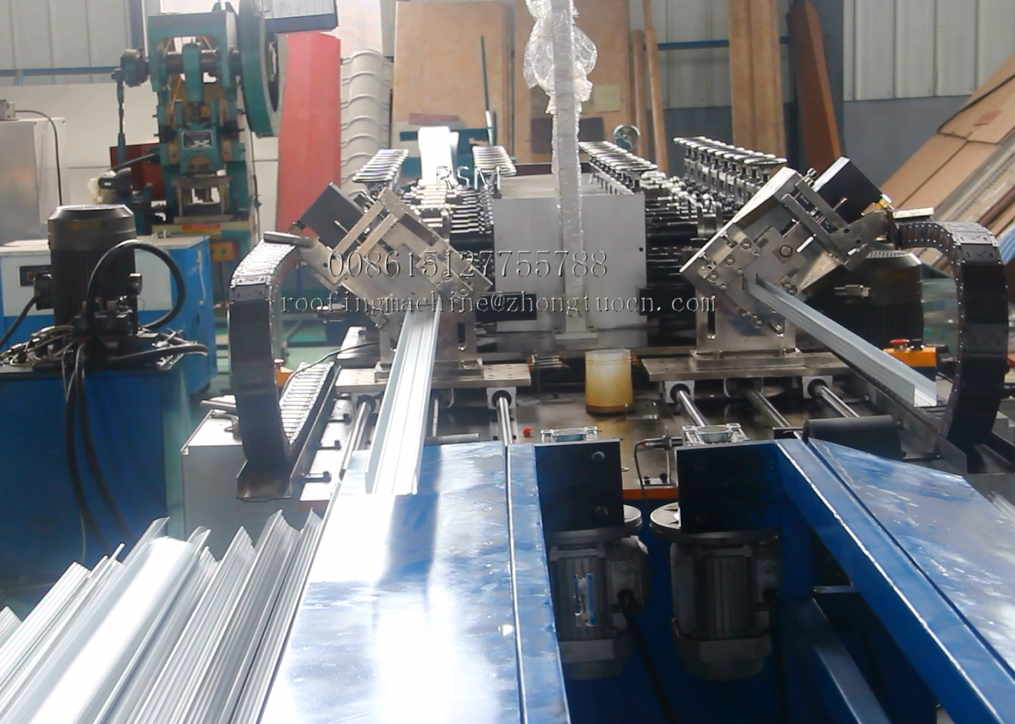 Fully automatic false ceiling elements metal CD CW making machine