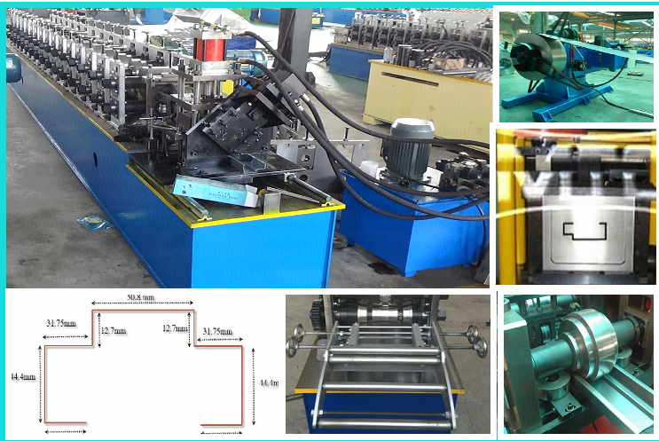 Half automatic door frame & window frame rolling forming machine