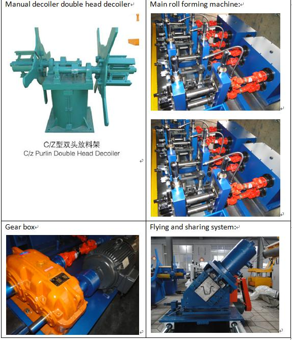 High speed furring hat roll forming machine
