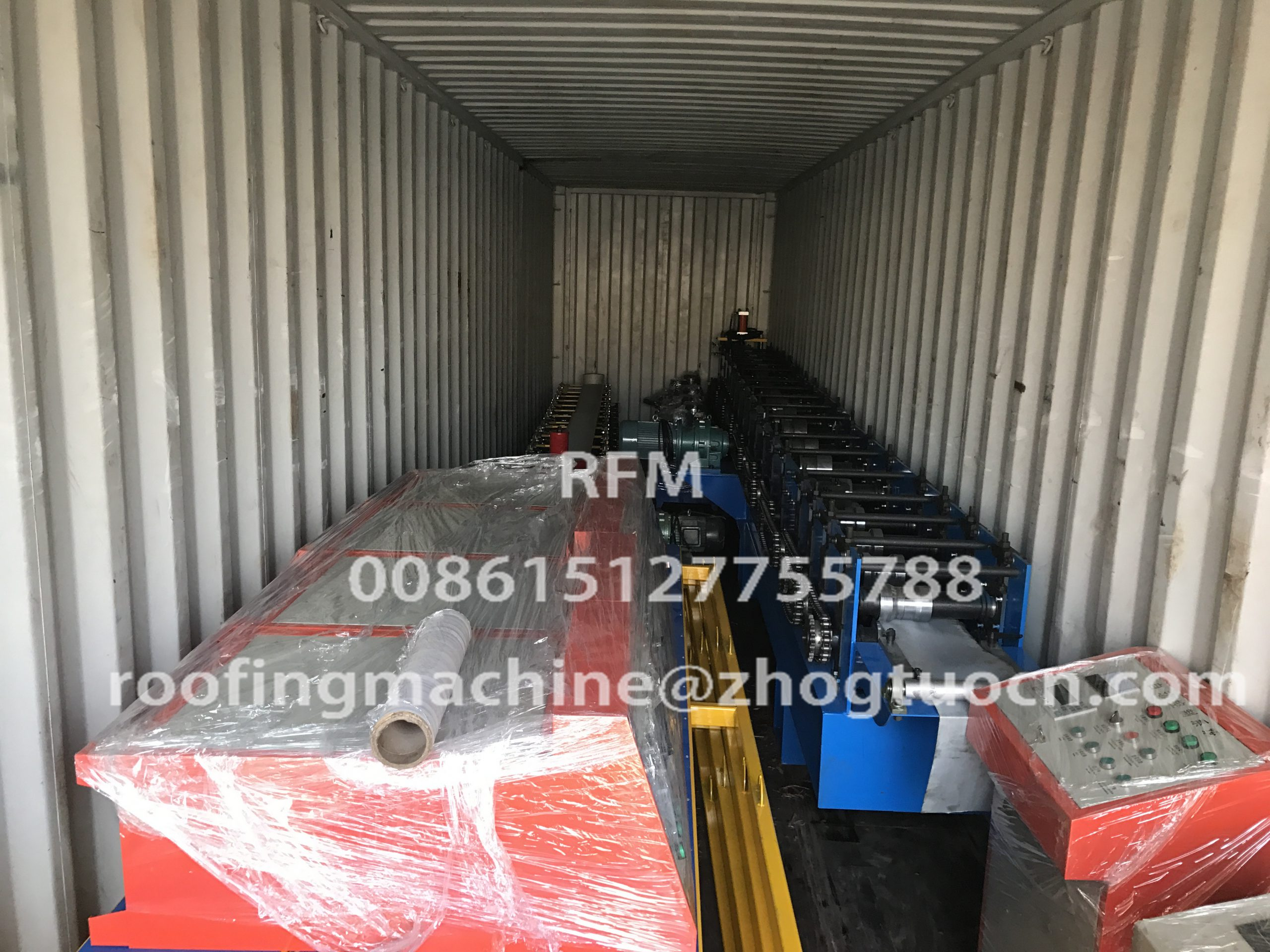 Double roll forming machine delivery