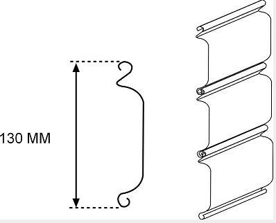 Low cost rolling shutter door forming machine