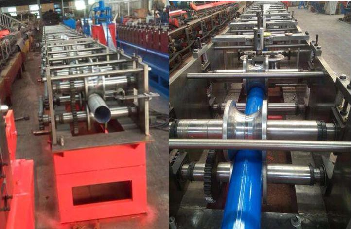 Round pipe interlocked seam roll forming machine