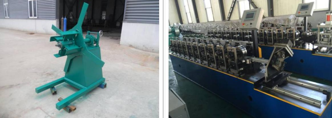 Shutter door U channel rolling forming machine