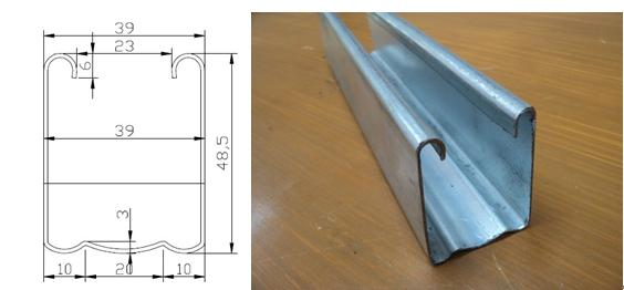 Shutter door slide rail rolling forming machine