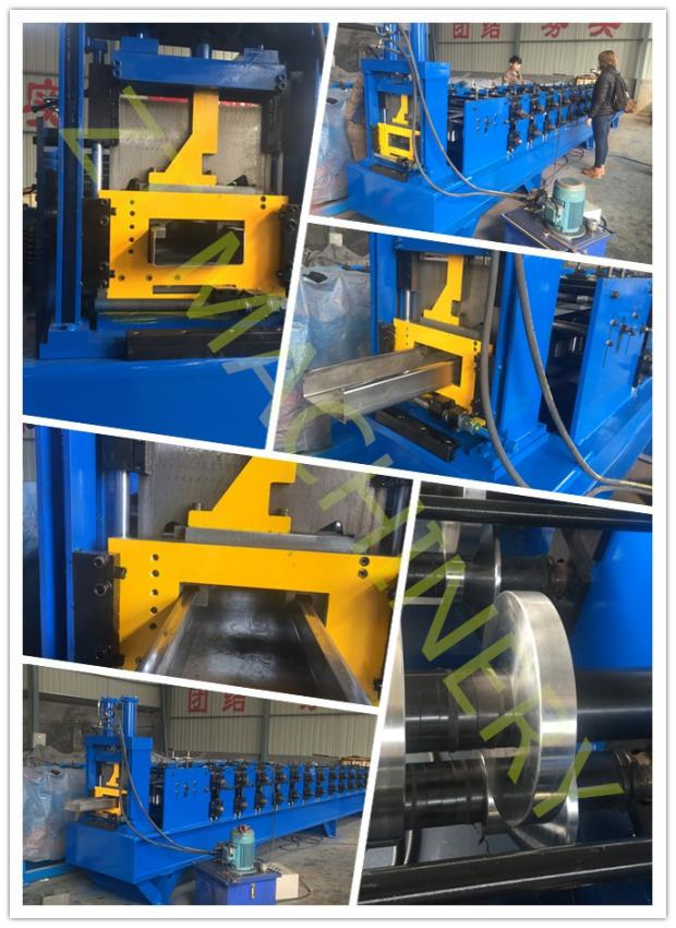 Standard size C purline with punching rolling forming machine