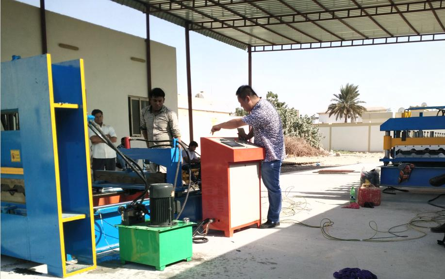 Instruction of install machines for customers in United Arab Emirates