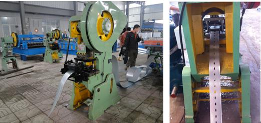 U shape solar pillar roll forming machine