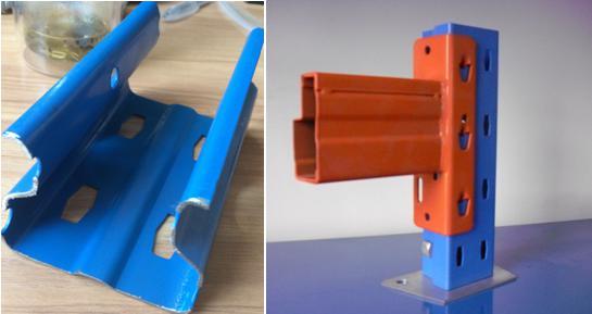 upright pillar making machine for racking system