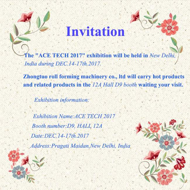 ACE TECH 2017 exhibition in India soon come