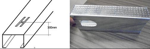 50, 75, 100 drywall light keel roll forming machine