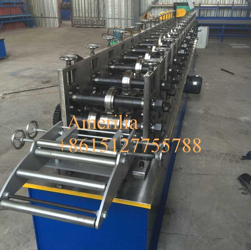 rolling shutter side channel making machine