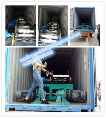 A new strut channel machine is loading on container